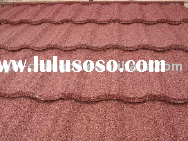 Best brand, Sun Stone coated metal roof tile,