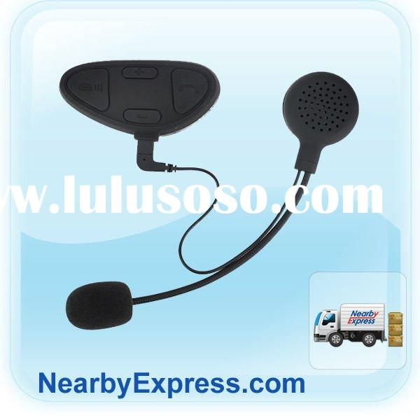 Black Multipoint Bluetooth Helmet Stereo Headset for Cell Phone / GPS