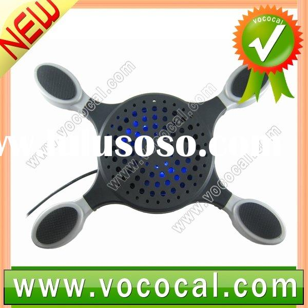 Black USB Notebook Cooler Cooling Pad Fan for Laptop PC