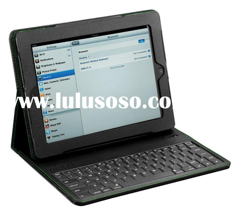 Bluetooth Keyboard Case for iPad 2 with High-Performance Tactile Plastic keyboard