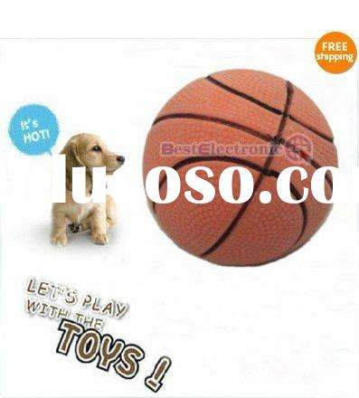 Bouncy Rubber Sports Pet Dog Cat Basketball Toy(ball)