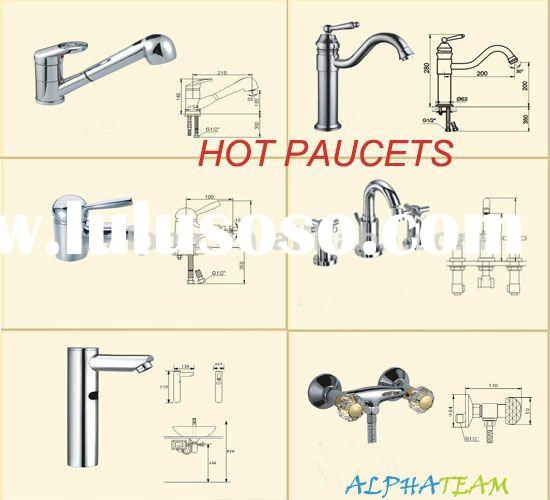 Brass faucet mixer for bathroom and kitchen