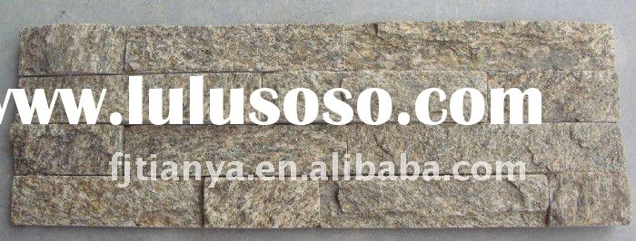 Building material wall slate yellow quartz stone