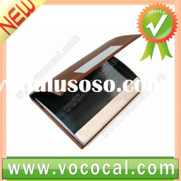 Business Holder Name Credit Card Leather Case