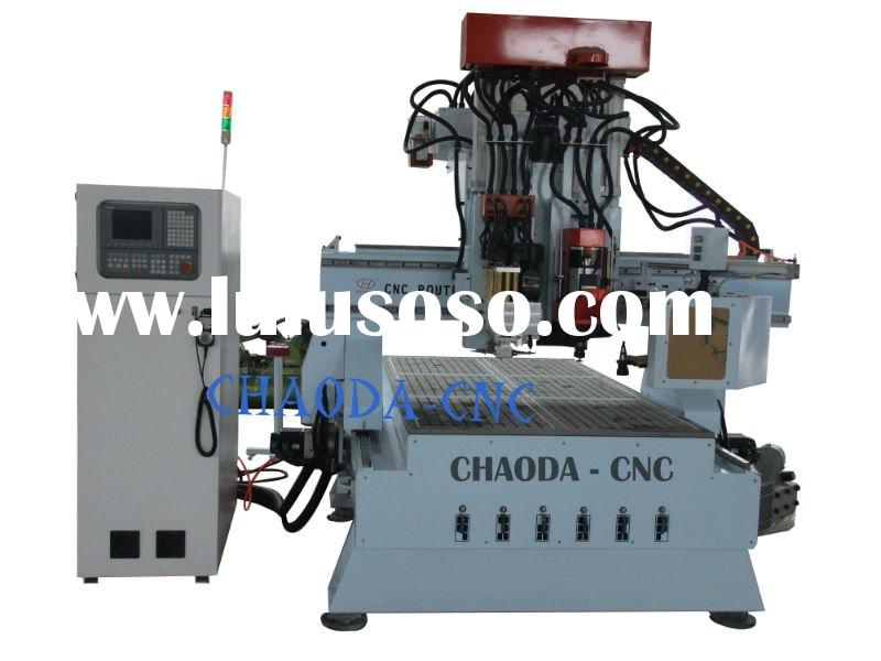 CHAODA high precision wood carving machine with auto tool changer