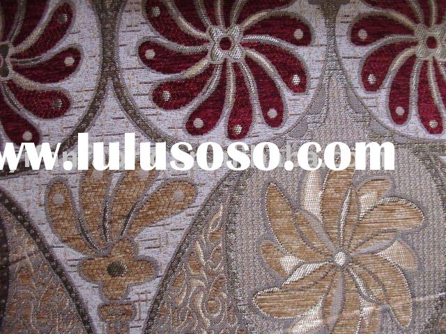 CHENILLE/POLYESTER JACQUARD FABRIC/UPHOLSTERY FABRIC JACQUARD/YARN DYED CHENILLE FABRIC/FABRICS TEXT
