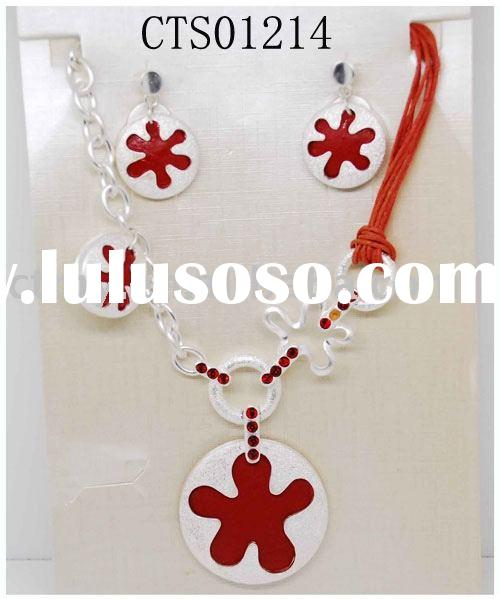 CTS0214 new style alloy pendent necklace and earring fashion jewelry set costume or imitation jewele