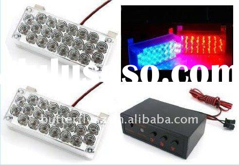 Car Flashing 2*22 44 Emergency LED Strobe Light Red + Blue (full white / full yellow / all red / Ful
