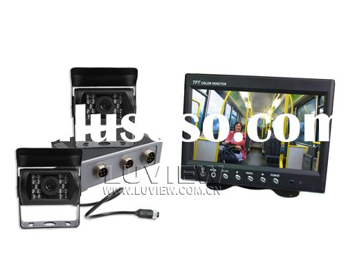 Car Video surveillance, Reversing Aid, Rearview System with Dual Cameras for Buses, Trucks etc