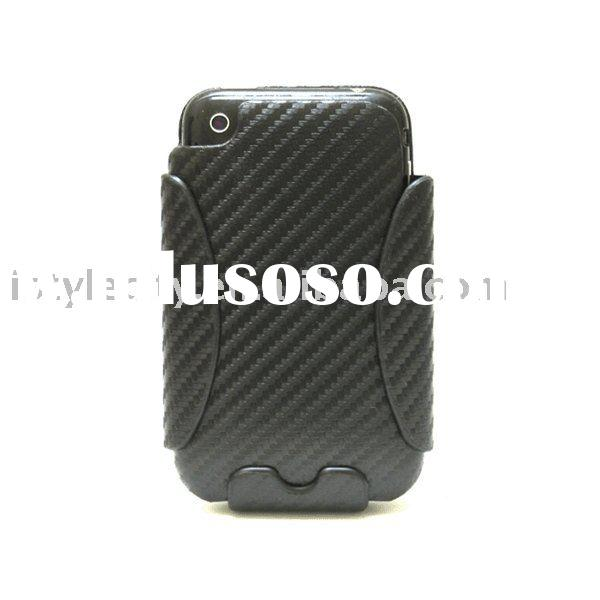 Carbon Fiber Leather Protective case with Belt Clip for Apple iPhone 3G/3GS (Carbon Fiber)