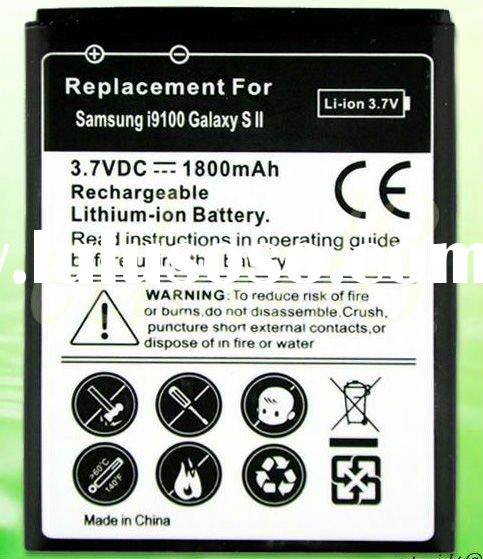 Cell Phone Battery For Samsung Galaxy S 2 II i9100