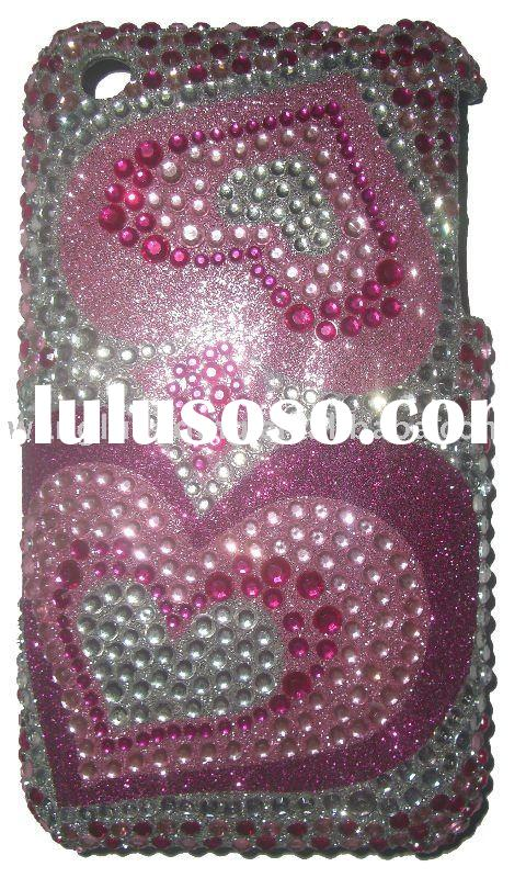 Cell phone full Bling Pearl Rhinestone diamond Case for Apple iPhone 3G 3GS