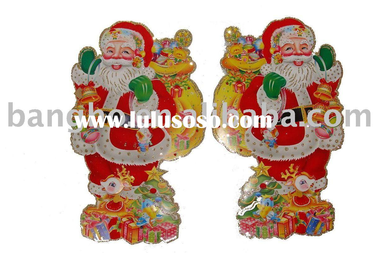 Christmas sticker/christmas decoration/santa claus