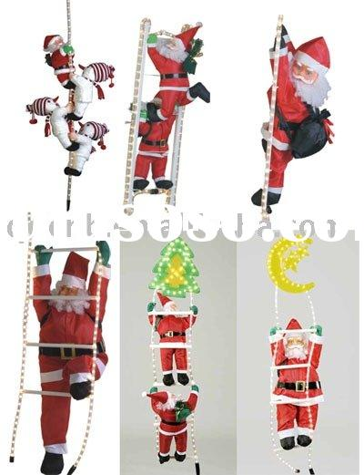 Climbing Santa with Light Rope Christmas Decoration Christmas Ornament Promotional Gift