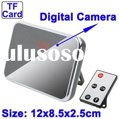 Clock DV Security Hidden Camera DVR Motion Detector with Remote-Control Support TF Card(T1000)