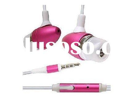 Colorful earphone for iPhone4 for iPhone 3G for iPhone4 accessories