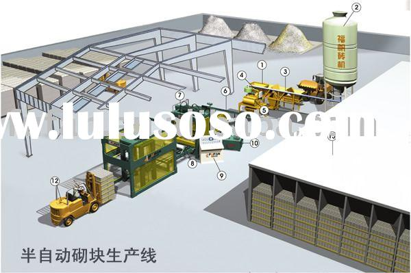 Concrete block production line,simple block making production line,unburned brick production line