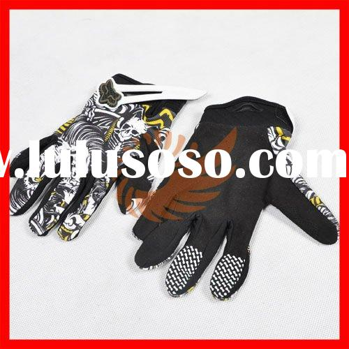 Cool Skull Bike Motorcycle Riding Sport Hand Glove Protective Full Finger Size L Racing gloves [P223