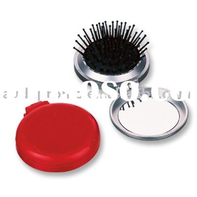 Cosmetic Mirror with Brush , Travel Mirror Set , Compact Mirror with Hair Brush