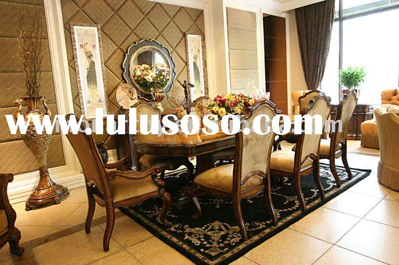 D0023-42 high quality solid wood classical dining table