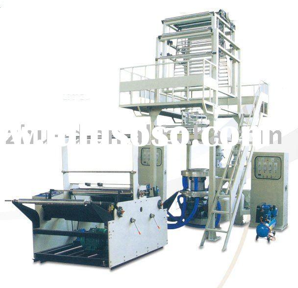 Double-layer Co-extrusion Rotary Die-head Film Blowing Machine Set