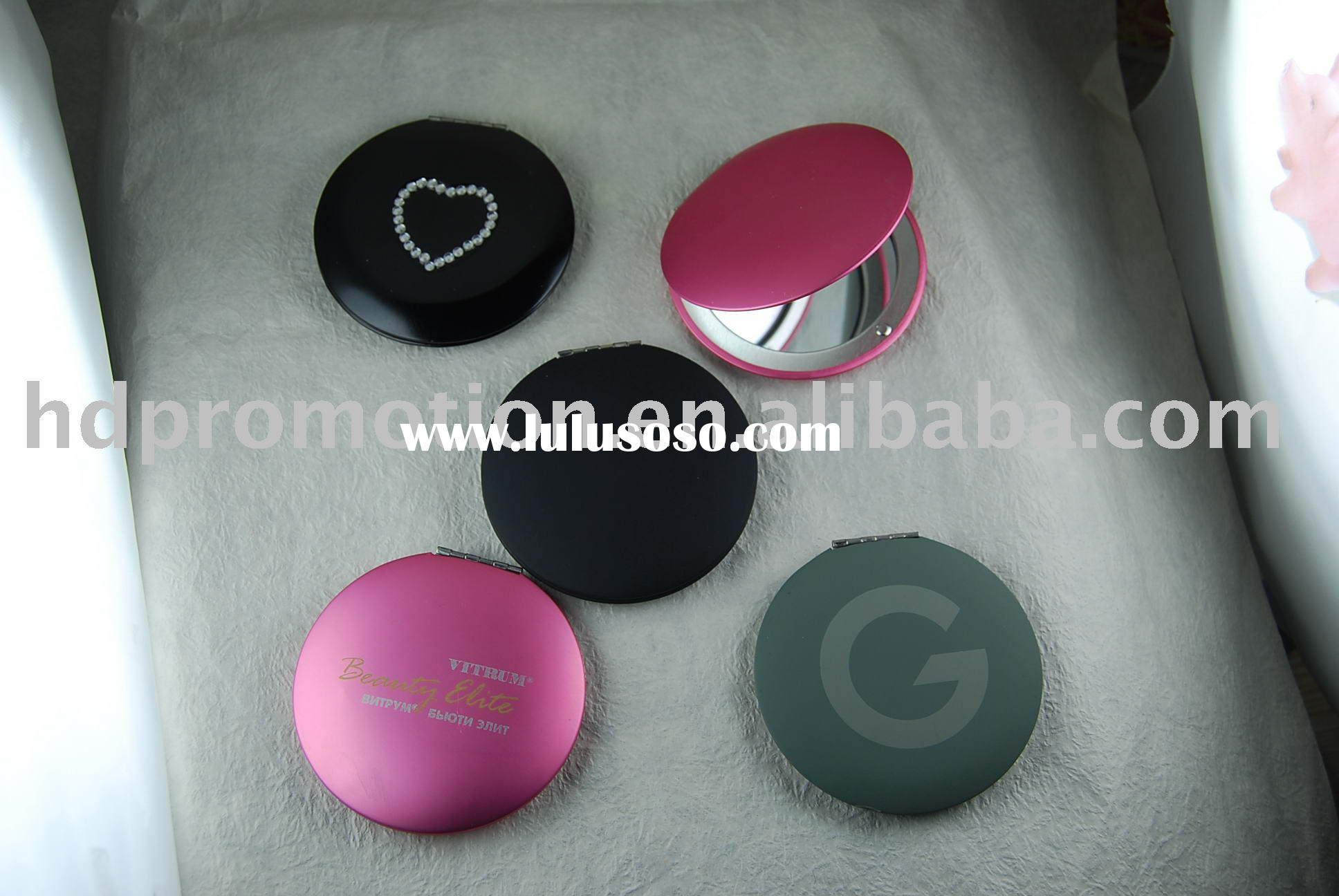 Double side round shape Metal Pocket Mirror