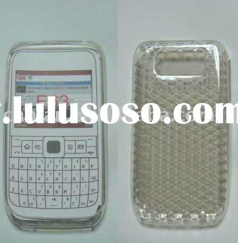 E63 transparent silicon case/supply all kinds of cellphone cover/mobile phone cover/silicon cover