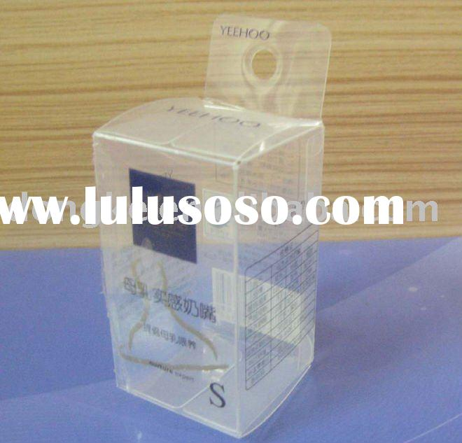 Eco-friendly Clear Plastic baby pacifier packaging box