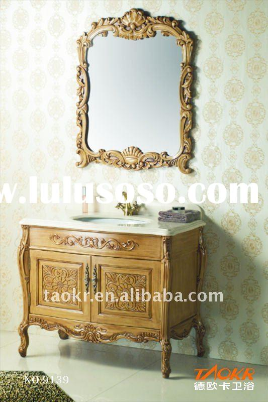 European antique style solid wood bathroom furnitures