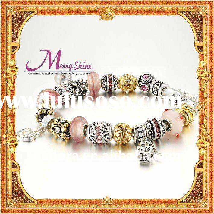European style beads! Wholesale silver beads! DIY fashion bead BRACELET! 925 silver beads OEM beads