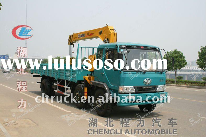 FAW 6*2 cargo crane truck for sale
