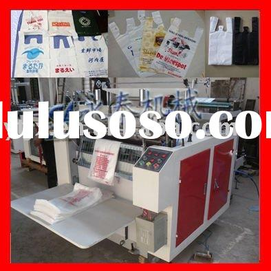 FR-600 plastic t shirt bag making machine with servo motor