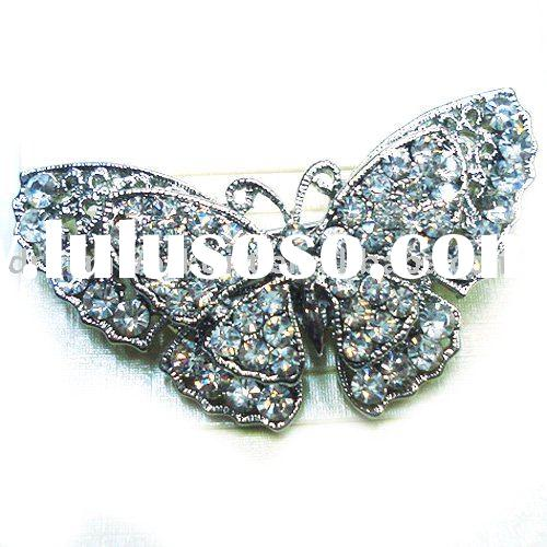 Fashion Jewelry Crystal Rhinestone Diamante INSECTS BUTTERFLY Brooch