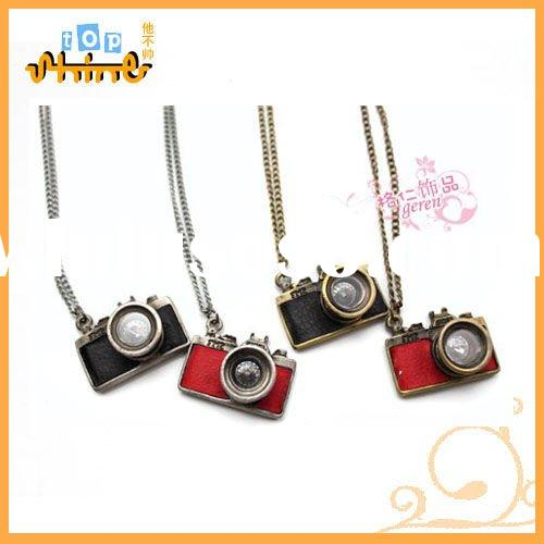 Fashion Korea Style Long Chain Camera Vintage Necklace / Choker With Camera Pendant