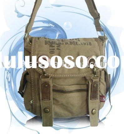 Fashion canvas shoulder bags for men and women