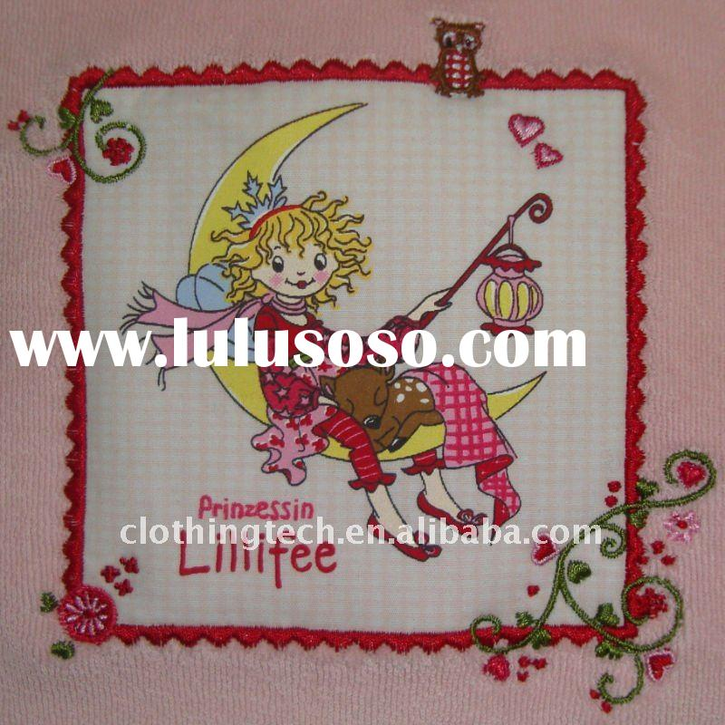 Fashion cartoon girl pictures embroidery patch