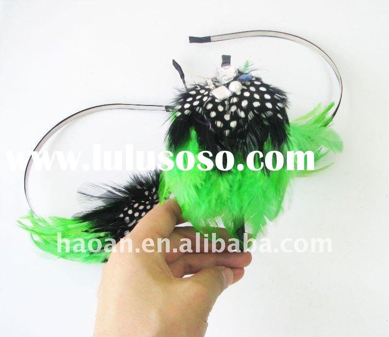 Fashion feather hair accessories for women