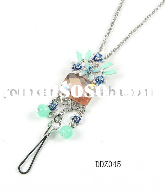Fashion jewelry,Crystal /Rhinestone Necklace & Mobile Phone Pendant