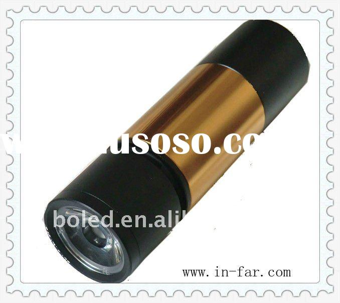 Fashion mini flashlight speaker with rechargeable li-ion battery