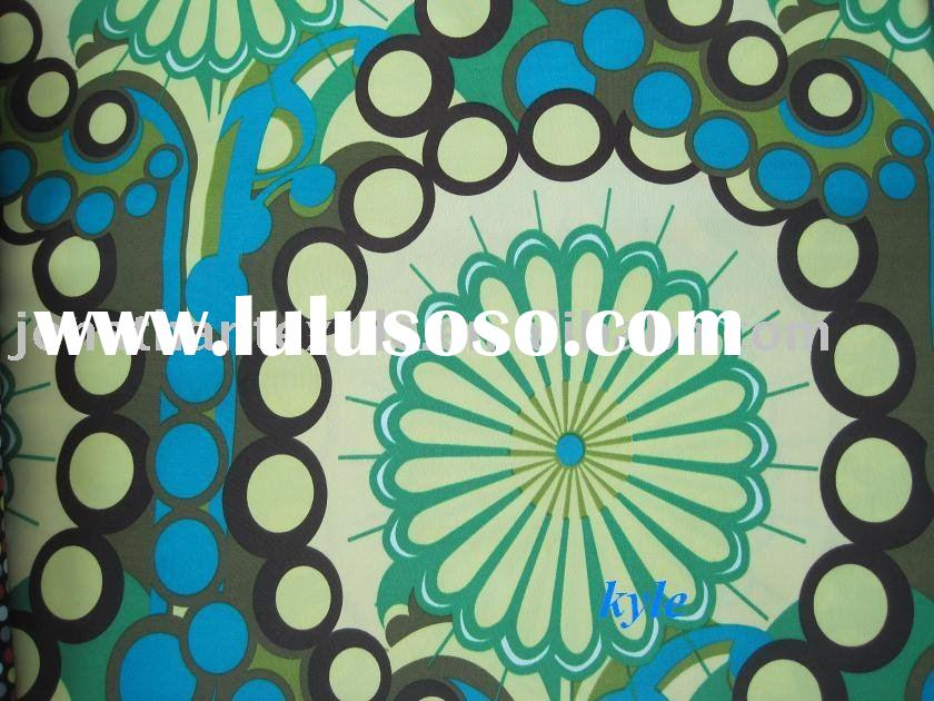 Fashion vital flower printed nylon/spandex fabric used for swimwear,bikini, beachwear ,underwear and