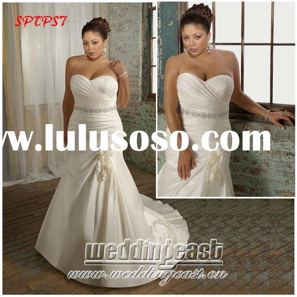 Fashionable Plus Size Wedding Dress SPTPS7