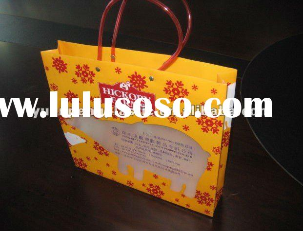 Fashionable foldable plastic shopping bag for suit/towel