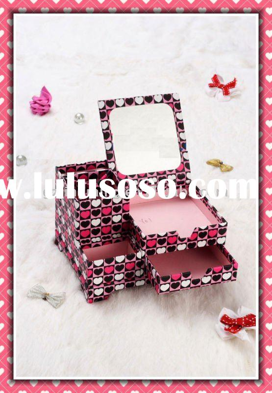 Folding cosmetic paper box for packaging (PB0024)