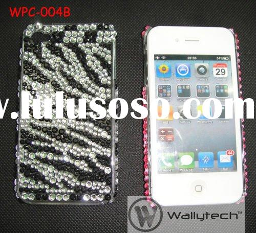 For iPhone4 Case LEOPARD DIAMOND Bling Rhinestone Cover for iPhone4 4G