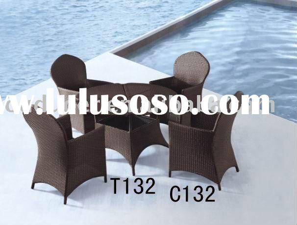 Foshan outdoor furniture rattan round table and chair set