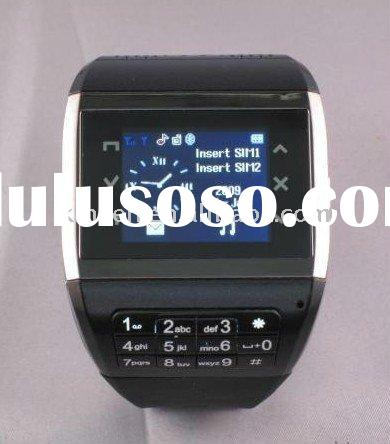 Free Shipping Watch Phone Q8,GSM quad-band,bluetooth,2.0Mcamera,FM,mp3/MP4 watch cell phone