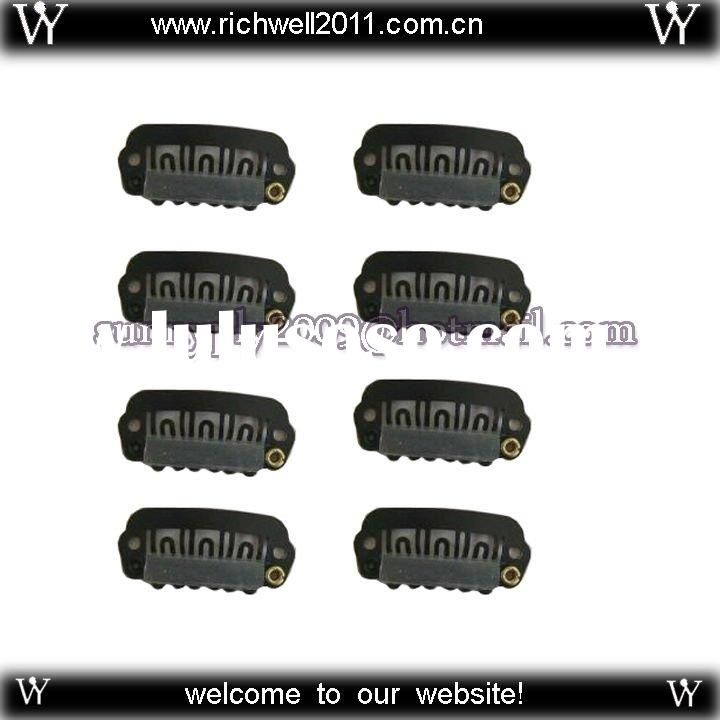 Freeshipping - 20pcs 2.5cm High Quality Wigs Snap Clips / Toupee Snap Clips / Hair Extension Tools
