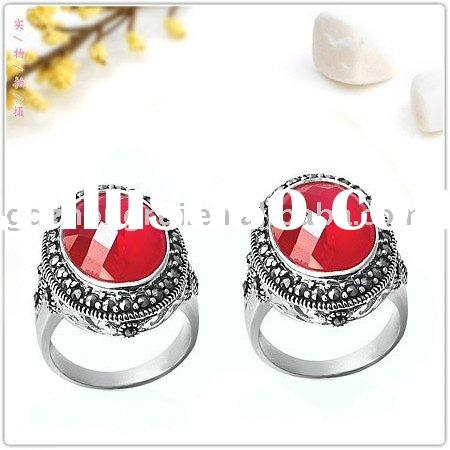 GDZR2298 925 sterling silver marcasite stone ring