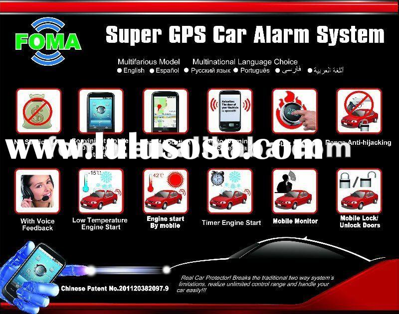 GPS/GSM car alarm system with engine start FMG008