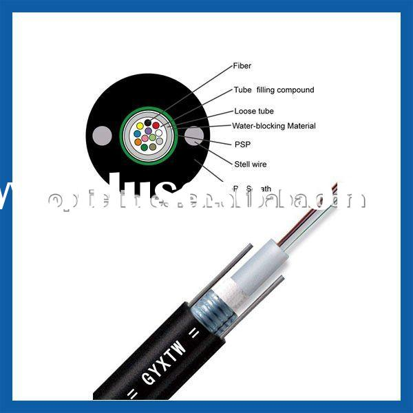 GYXTW outdoor Aerial Duct Central tube 2-24 core ITU G.652D single mode optical fiber cable